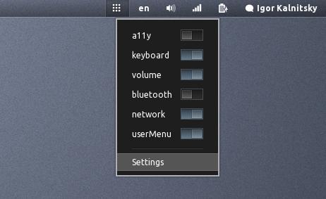 Cpature d'écran de Gnome shell