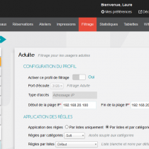 Profils de filtrage - Webkiosk 4