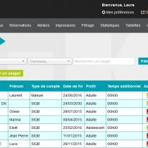 Liste des usagers - Webkiosk 4