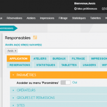 Administration - Groupes et permissions - Webkiosk 4