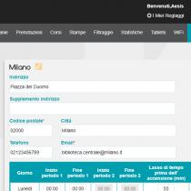Amministratione > Siti - Webkiosk 4.8