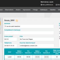 Administration - Sites - Webkiosk 4