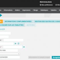 Ajouter un usager - Webkiosk 4