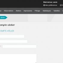 Ajouter un compte atelier - Webkiosk 4