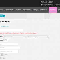 Tablettes - Ajouter une tablette - Webkiosk 4