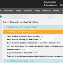 Administration - Paramètres - Tablettes - Webkiosk 4