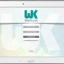 Interface tablette - Login - Webkiosk 4