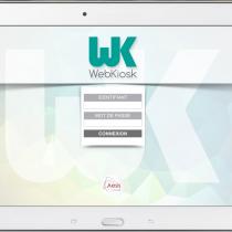 Interface tablette - Login - Webkiosk 4
