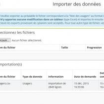 Importer des données